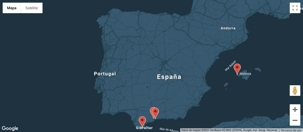 Mapa España OCP